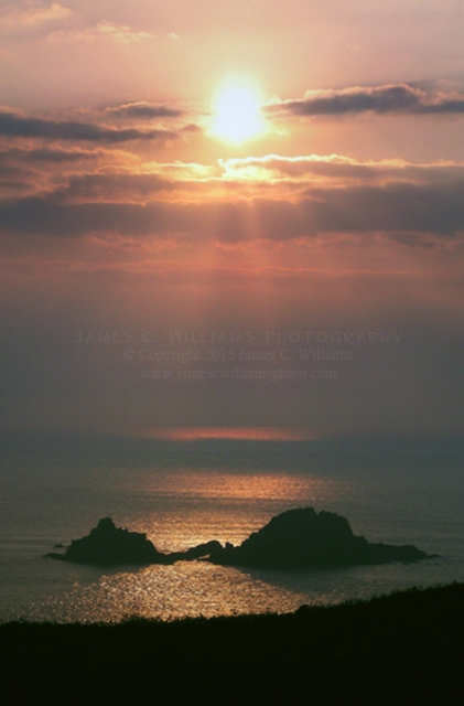 Sunset near St. Just, Cornwall, England. Shot in 2008.