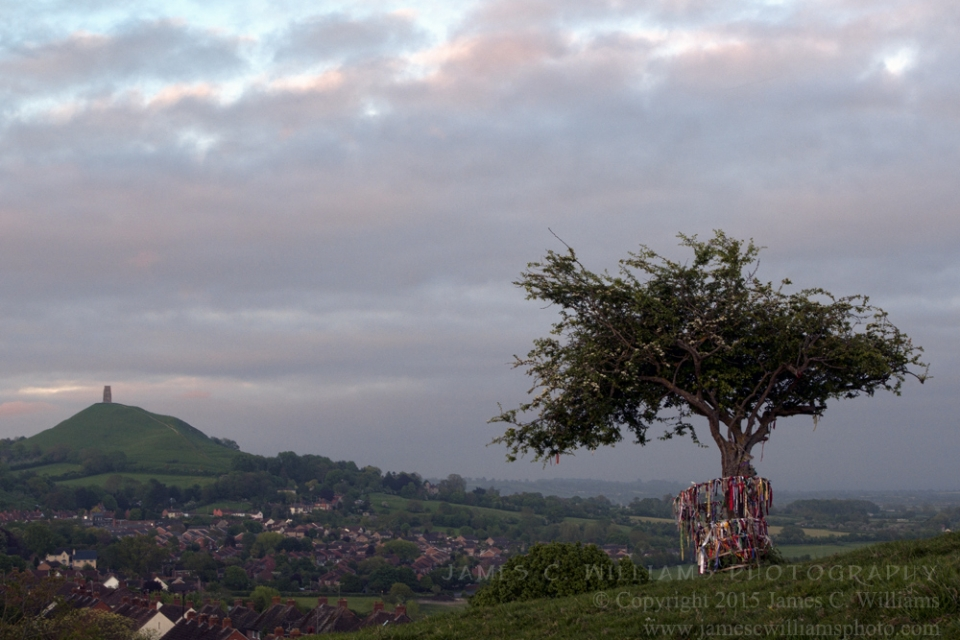 Glastonbury Dusk, Glastonbury, Somerset, EnglandDigital Color Photograph; shot in 2010, final edit processed 2015James C. Williams Photography© Copyright 2015 James C. Williamswww.jamescwilliamsphoto.com