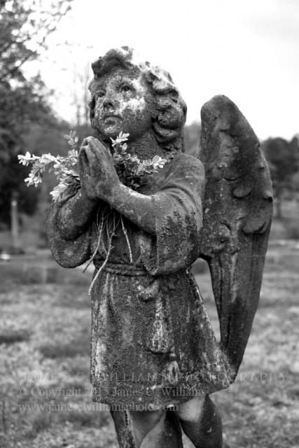 Green Hill cemetery, Greensboro, NC. Shot at dusk just before a rain storm.