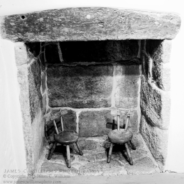 Fireplace of the Church House, St. Andrew's, South Tawton, Devon, England. Shot in 2010; processed for final print 2015.