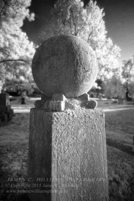 Globe Monument, Green Hill Cemetery, Greensboro, NCInfrared Digital PhotographJames C. Williams Photography© Copyright 2015 James C. Williamswww.jamescwilliamsphoto.com