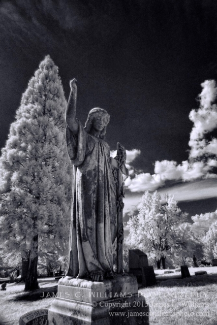 Green Hill Cemetery, Greensboro, NC Infrared Digital Photograph James C. Williams Photography © Copyright 2015 James C. Williams www.jamescwilliamsphoto.com