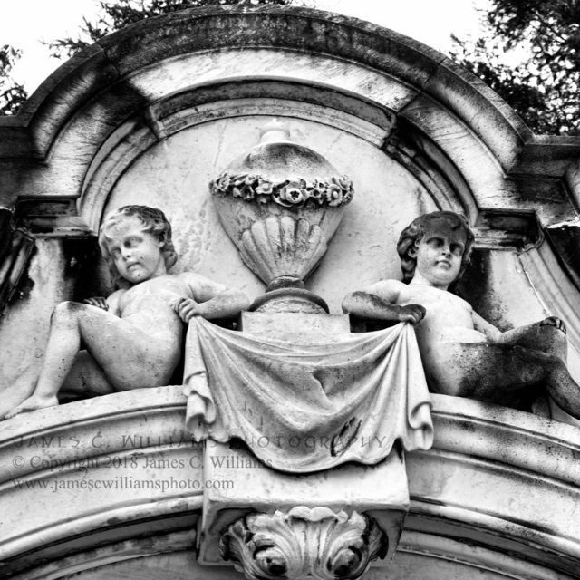 Perched - Spring Grove CemeteryBlack and White Digital Photograph, 2016Spring Grove Cemetery, Cincinnati, Ohio