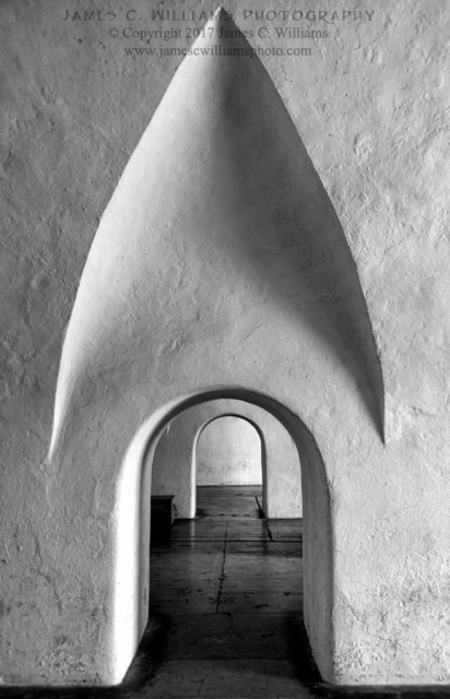 San Cristobal ArchesBlack and White Digital PhotographShot 12/11/2016, edited 1/14/2017