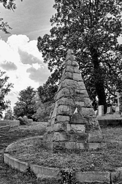 Pyramid Headstone, Hollywood Cemetery, Richmond, VirginiaDigital Converted Black & White Photograph; shot in 2012, final edit processed 2015James C. Williams Photography© Copyright 2015 James C. Williamswww.jamescwilliamsphoto.com