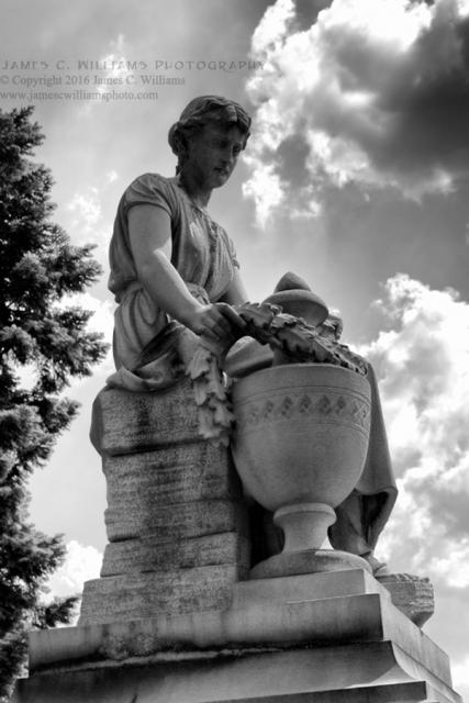 Statue, Spring Grove CemeteryBW Digital Photograph