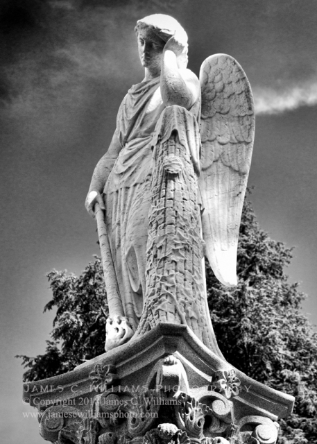 The Torch Bearer- Spring Grove CemeteryBlack and White Digital Photograph, 2016Spring Grove Cemetery, Cincinnati, Ohio