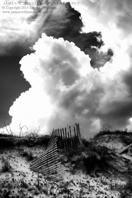 Topsail CloudsDigital Black and White Converted PhotographJames C. Williams Photography© Copyright 2015 James C. Williamswww.jamescwilliamsphoto.com