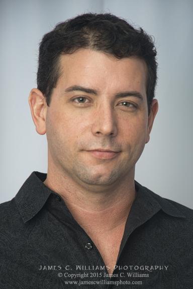 Headshot, model/actor Johnny Hardin II.