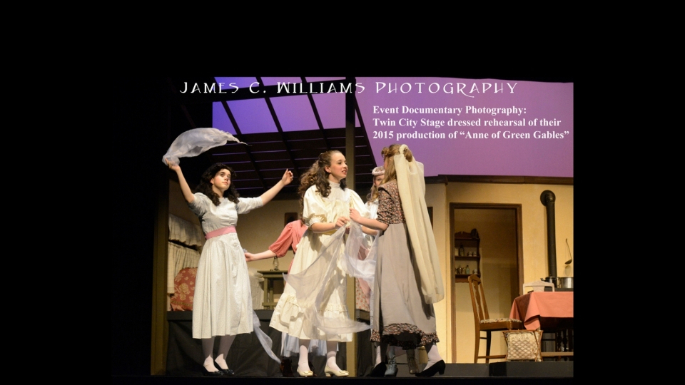 """Dressed rehearsal for Twin City Stage's 2015 production of """"Anne of Green Gables."""""""