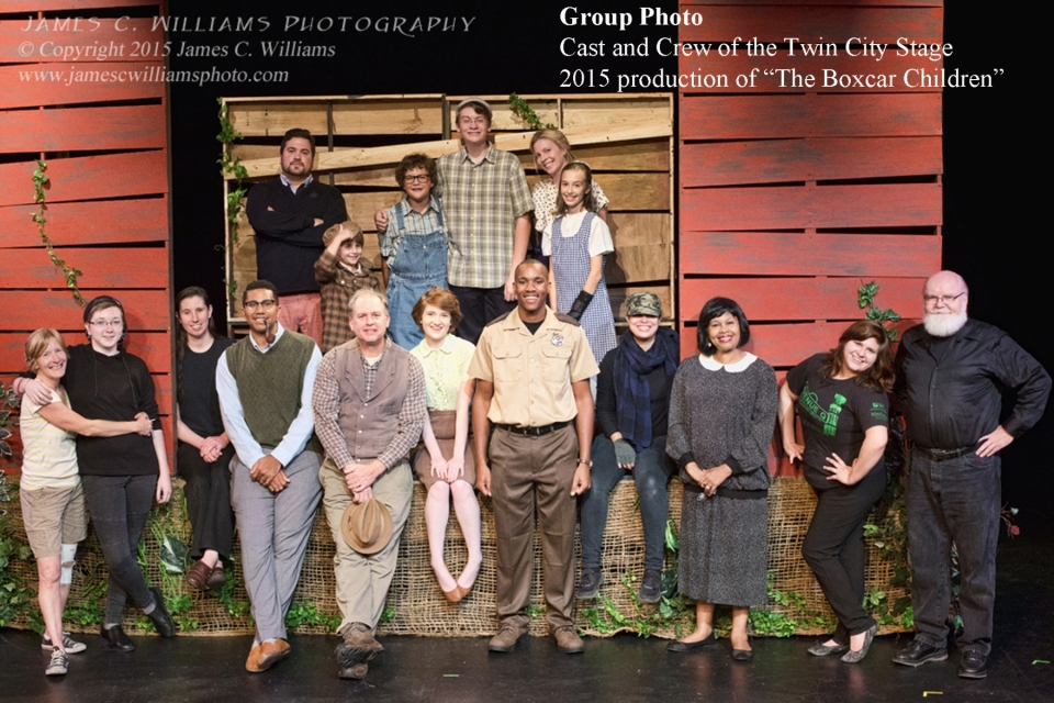 "Cast & Crew photo for the Twin City Stage production ""The Boxcar Children"""