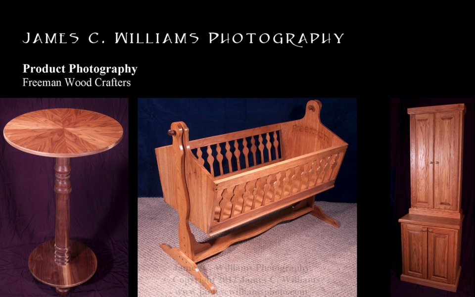 Product images for Jim Freeman, Freeman Wood Crafters.All images copyright James C. Williams,