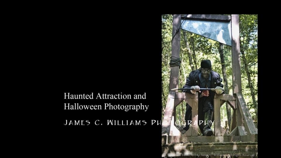 Photogarphy by James C. Williams, courtesy of Woods of Terror and model Joe Collins. Makeup by Erika Joy Jones.