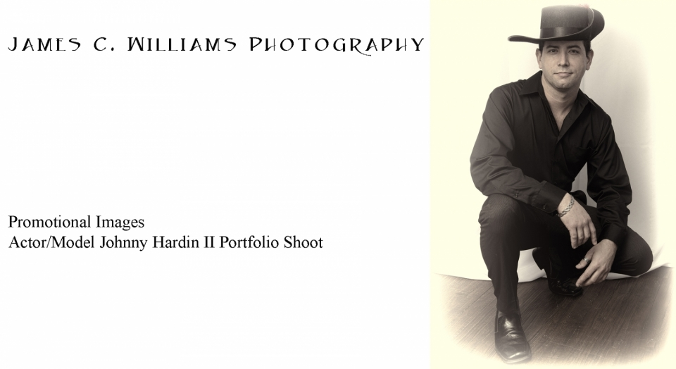 Portrait of model/actor Johnny Hardin II.