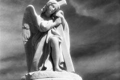 Angel With Cross On Column