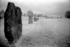 Captured on Kodak HIE-135 Infrared Film. Avebury Stone Circle, Wiltshire, England. Photo taken September 13, 2008. Final edit, January 25, 2009