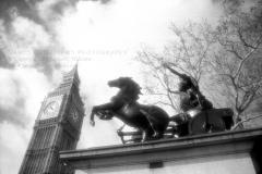 Boudicca & Big BenInfrared Film Photograph, 2006, London, England