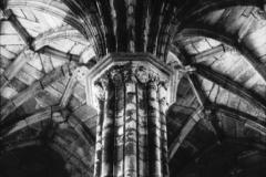 Chapterhouse, Elgin Cathedral, Elgin, ScotlandInfrared film photograph by James C. WilliamsOriginal exposure shot in 2012, final edit printed 2013.
