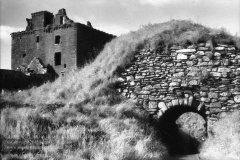 Entrance to Dunnottar Castle, Stonehaven, ScotlandInfrared Film Photograph; shot in 2012, final edit processed 2015James C. Williams Photography© Copyright 2015 James C. Williamswww.jamescwilliamsphoto.com
