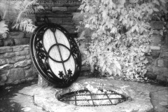 Shot in 2008 at the Chalice Well, Glastonbury, Somerset, England, on Kodak HIE-135 infrared film.