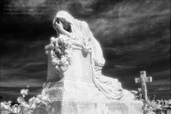 Grieving, Cementerio Santa María Magdalena de Pazzis, San Juan, Puerto RicoInfrared Film Photograph; shot in 2011, final edit processed 2015James C. Williams Photography© Copyright 2015 James C. Williamswww.jamescwilliamsphoto.com