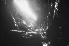 Captured on Kodak HIE-135 Infrared Film September 13 2008 - Final version created 3/6/09 - Merlin's Cave - Tintagel - Cornwall