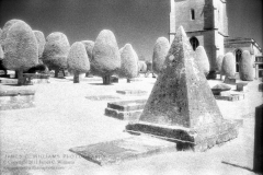 Pyramid Headstone, Painswick, Gloucestershire, EnglandInfrared Film Photograph; shot 2010, final edit processed 2011James C. Williams Photography© Copyright 2011 James C. Williamswww.jamescwilliamsphoto.com
