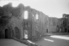 Raglan Castle, Wales, UK - Original image captured on Kodak HIE-135 Infrared Film - 25 September 2008 - Negative scanned and retouched for digital output by the photographer.