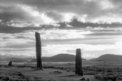 The incredible Ring of Brodgar, part of Heart of Neolithic Orkney, UNESCO World Heritage location. Shot in 2012; processed for final edit 2015. Infrared film photography, Kodak HIE-135 film.