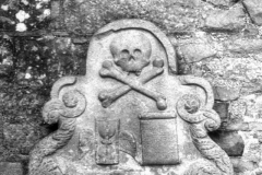 Skull & Crossbones, Elgin Cathedral, Elgin, Moray, ScotlandInfrared Film Photograph; shot in 2012, scanned for digital edit and print 2013, final edit 2015James C. Williams Photography© Copyright 2015 James C. Williamswww.jamescwilliamsphoto.com