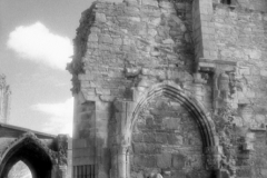 Statues In Niche, Elgin Cathedral, Elgin, Moray, ScotlandInfrared Film Photograph; shot in 2012, scanned for digital edit and print 2013James C. Williams Photography© Copyright 2015 James C. Williamswww.jamescwilliamsphoto.com