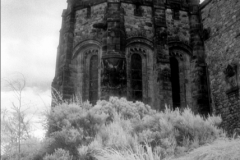 The War Memorial building at Edinburgh Castle, Edinburgh, Scotland.Shot in 2012; processed for final edit 2015. Infrared film photography, Kodak HIE-135 film.UNESCO World Heritage location.
